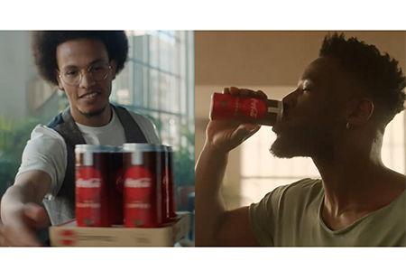 Huseni y Michael en el nuevo spot de CocaCola Plus Coffee